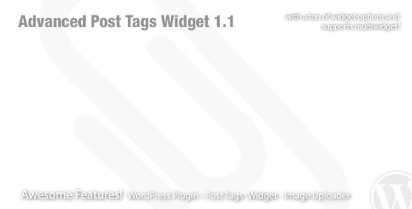 Advanced Post Tags Widget - WordPress Plugin . This is an advanced widget that gives you control to the output of your post_tag.Support multiwidget, resizeable post tags featured image, sorting and ordering, easy to customize and full features. Displays a list of post tags as links. When a post tag link is clicked, all the posts in that post