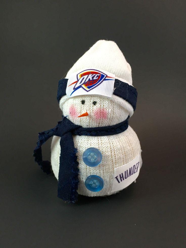 Oklahoma City Thunder, OKC Thunder gift, Oklahoma City Thunder gift,  Oklahoma City Thunder snowman, Fathers Day Gift,NBA, OKC snowman by Andreaswishcraft on Etsy https://www.etsy.com/listing/286367888/oklahoma-city-thunder-okc-thunder-gift