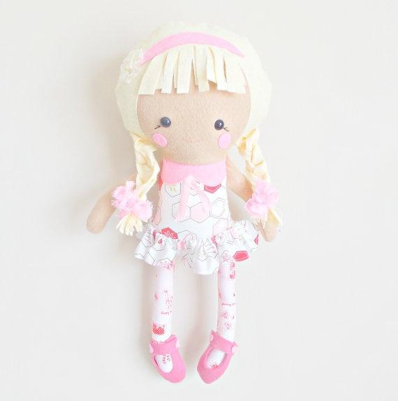 18inch Rag Doll  Toy Plush  Dolls and Daydreams by PlatoSquirrel, $65.00
