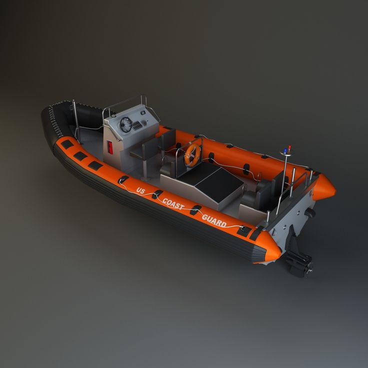 Rhib Boat 3D Model - 3D Model
