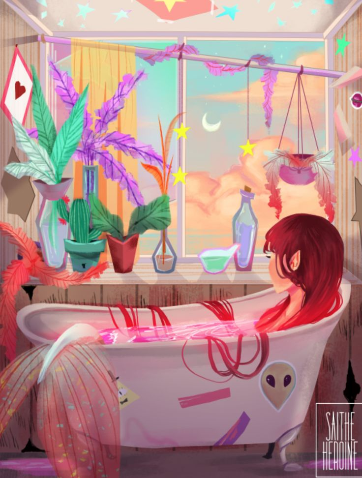 I love this art, and then it got better when I saw bill cypher on the bath tub.