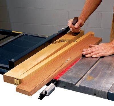 Schneiden Sie lange Kegel auf Tischsäge  – Holzarbeiten