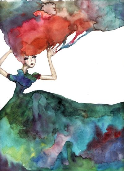 Daydreamer | Gie  #watercolor #illustrationArt Watercolors, Art Prints, Beautiful Watercolors, Daydream, Watercolors Illustration, Fashion Illustration, Illustration Art, Water Colors, Watercolors Painting