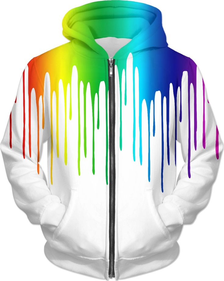 Color Drips by Marjorie Freya  rageon #fashion #jacket #hoodie #cool #art  #womensfashion #menswear #clothing #withe #color #rainbow #beautiful