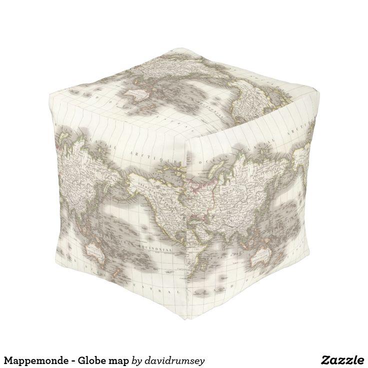 Mappemonde - Globe map Pouf