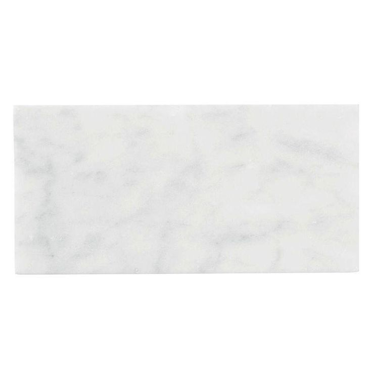 Jeffrey Court Carrara 3 In X 6 In X 8 Mm Honed Marble Wall Tile 8 Pack Home The O 39 Jays