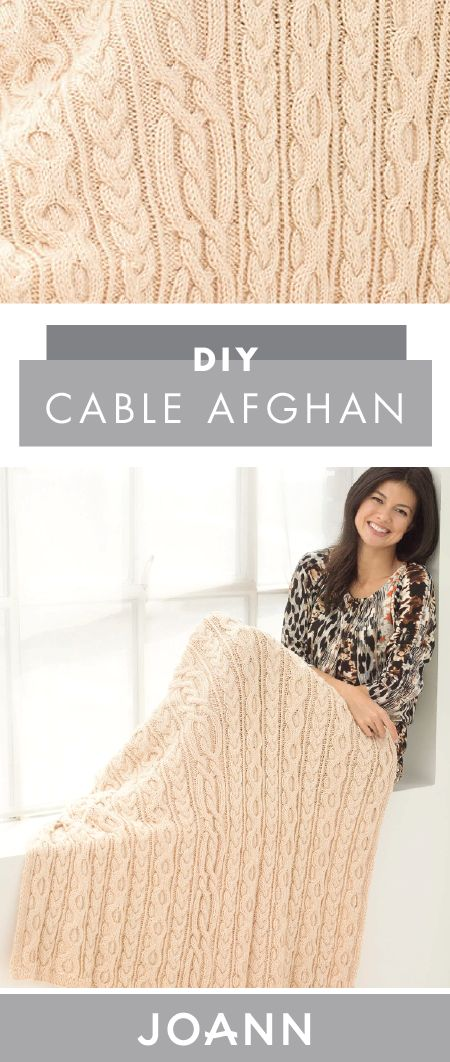 There's nothing like cozying up in a warm knit during the winter. If you want to give a gift of this comforting feeling–or just want to enjoy it for yourself—check out this tutorial from JOANN to see how you can make your own DIY Cable Afghan.