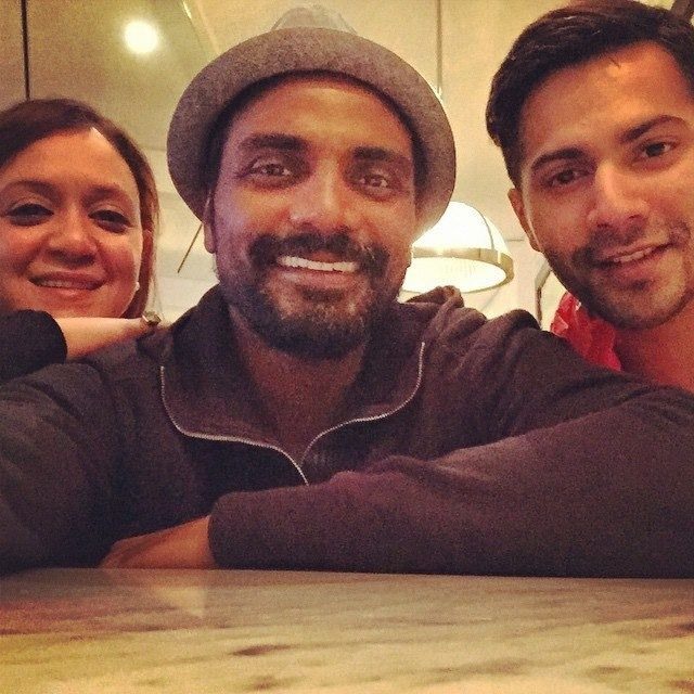 Selfie with Remo, Varun and Remo's wife!