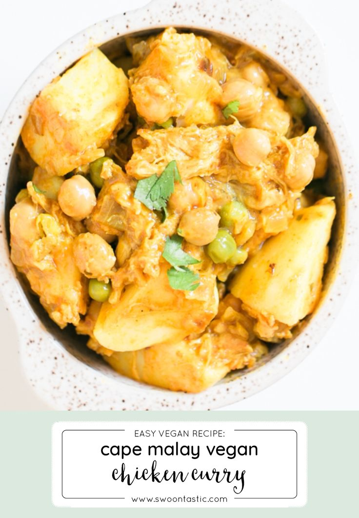 Think of this vegan dinner as your traditional cape malay chicken all dressed up for a yummy protein party. This vegan c…