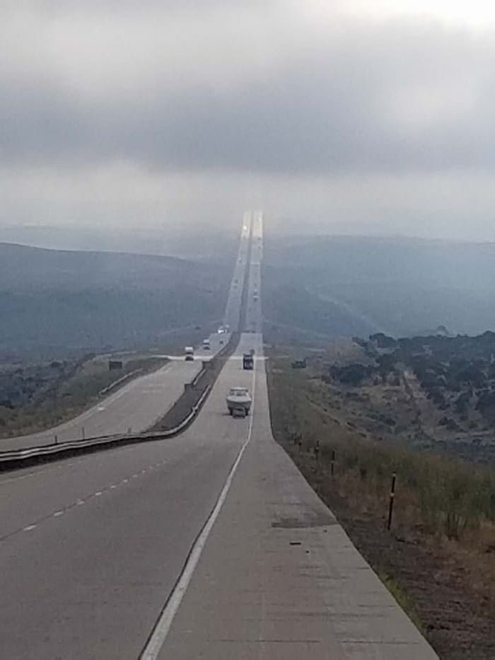 This spot on I-80 in Wyoming is known as the Highway to Heaven