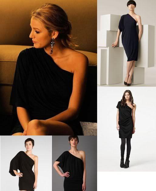 Gossip Girl Fashion: Serena's Black One Shoulder Dress