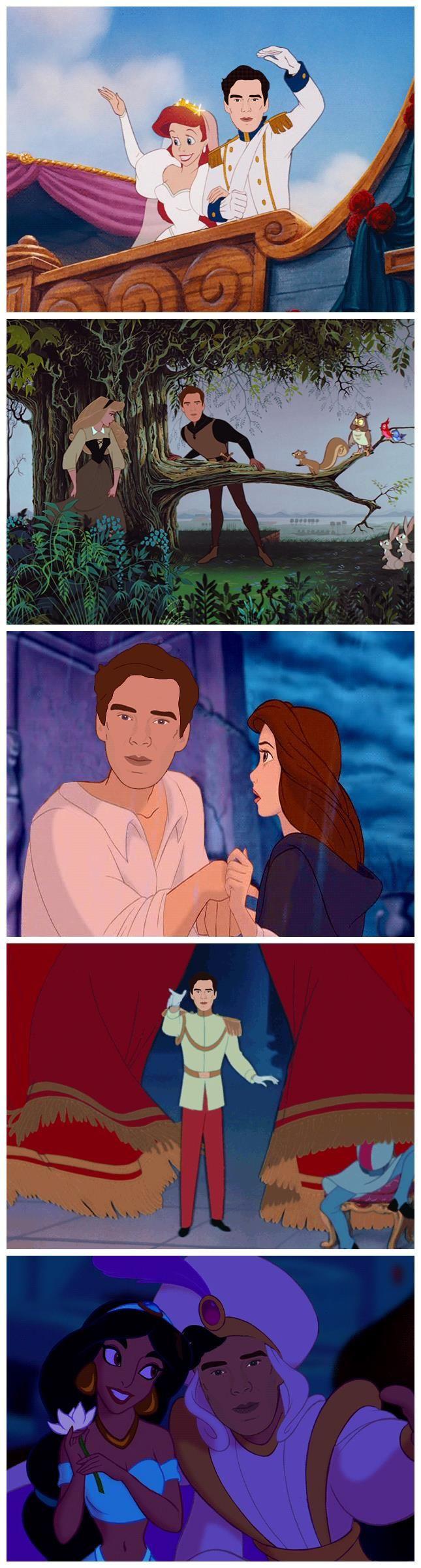 Benedict Cumberbatch As Disney Princes. I don't know if the fandom will make it until next season.....