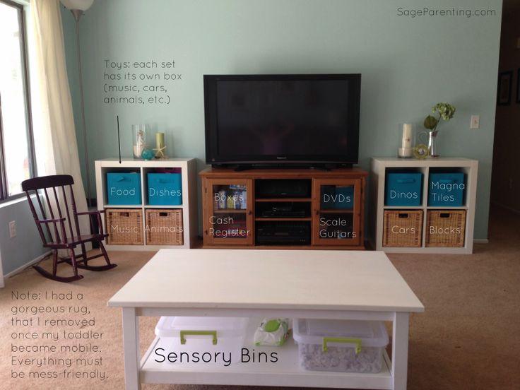 Organizing living room ideas