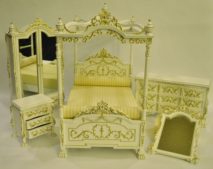 Eat you're heart out Barbie, this one isn't for you. 1:6 Scale Furniture for Fashion Dolls & Action Figures 23040WG 5 pc.Bedroom Set $799.00