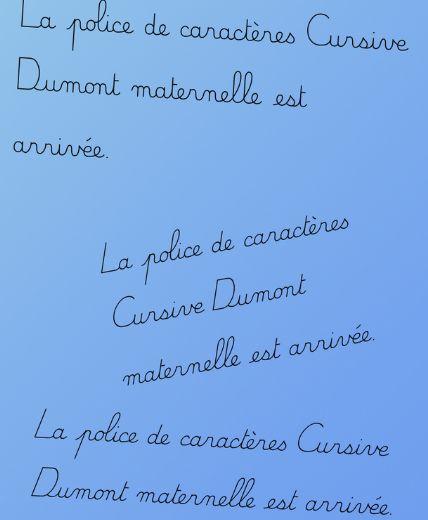 La police de caractères Dumont d'après la méthode du geste d'écriture