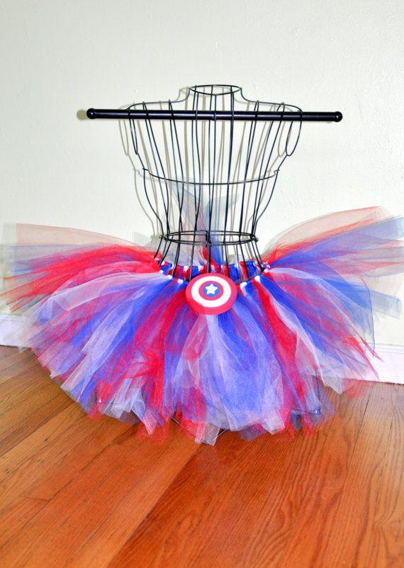 Captain America Like Red White Blue Adult by OhSoPrettyDesigns adult tutu, plus size tutu, halloween costume, superhero