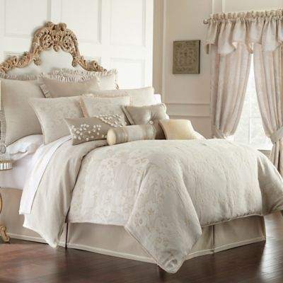 waterford linens genevieve reversible comforter set in ivory floral