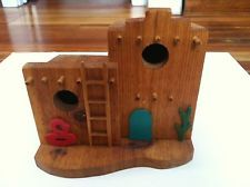 Charming Southwestern Style Bird House - Home-made from Wood