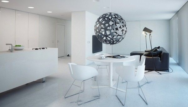 minimalist white dining ideas