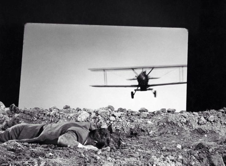on the set of North By Northwest