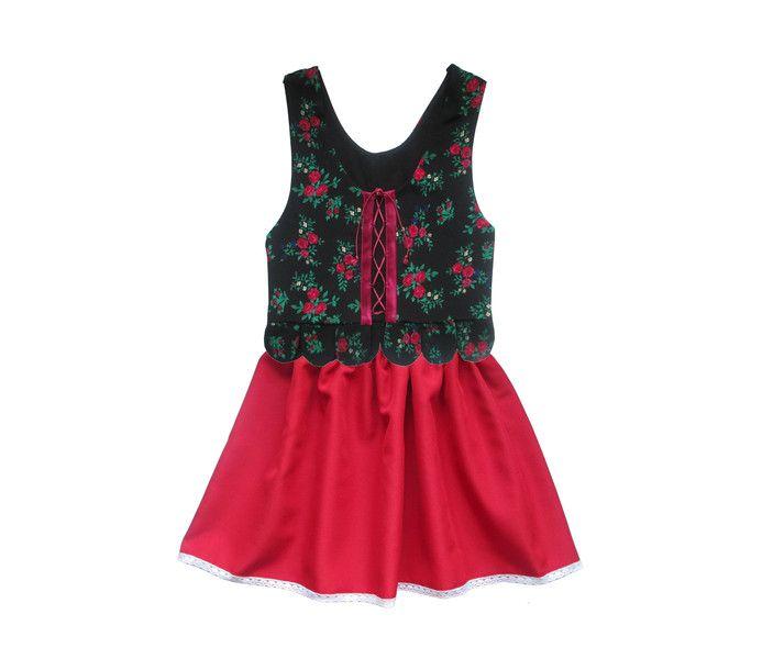 Komplet góralski gorset spódnica - Anetmoda - Kamizelki dla dzieci