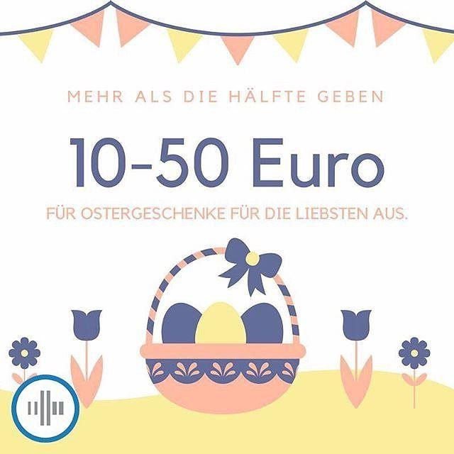 Schon Ostergeschenke gekauft? Laut einer Google Consumer Survey geben mehr als die Hälfte der Deutschen zwischen 10-50 hierfür aus : @agenturadtraffic