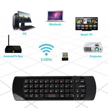 RII i25A K25A 2.4Ghz Wireless Air Mouse Keyboard Infrared Remote Control Audio Chat Learning For Projector PC