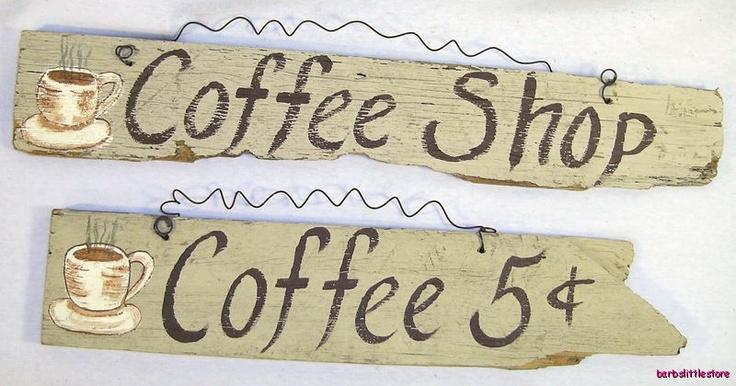 Vintage Wood Signs | Coffee Shop Primitive Sign Old Wood Fence Board | eBay