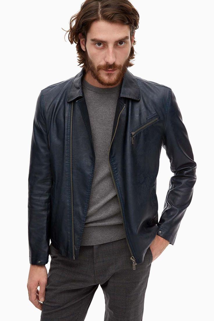 Perfecto Eco-Leather Biker Jacket - coats and jackets | Adolfo Dominguez shop online