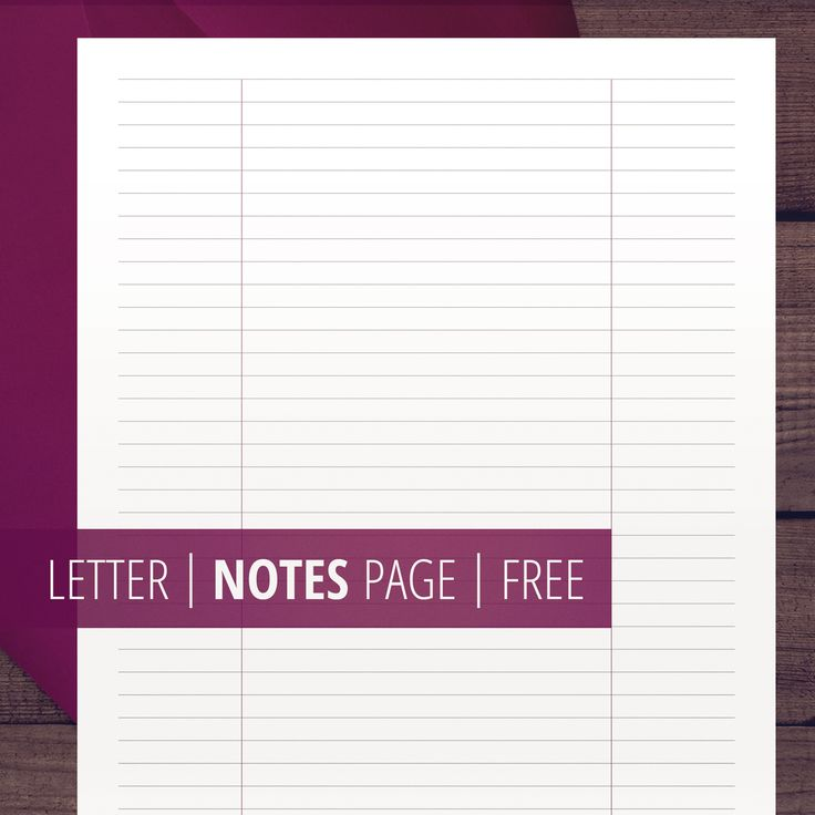 Notes Page Inserts / Ruled / Letter Size / Printable Planner Inserts / Minimalist / Planner Binder Inserts #notes #printable #inserts