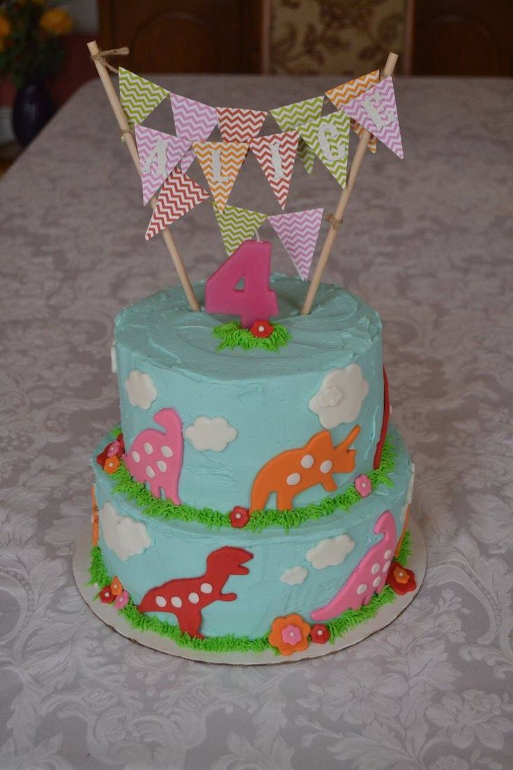 Dinosaur Cake Decorations Nz : Girly dinosaur cake Cake Ideas Pinterest Cakes ...