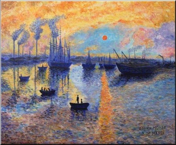 Famous Claude Monet Painting Sailboat at Le Petit