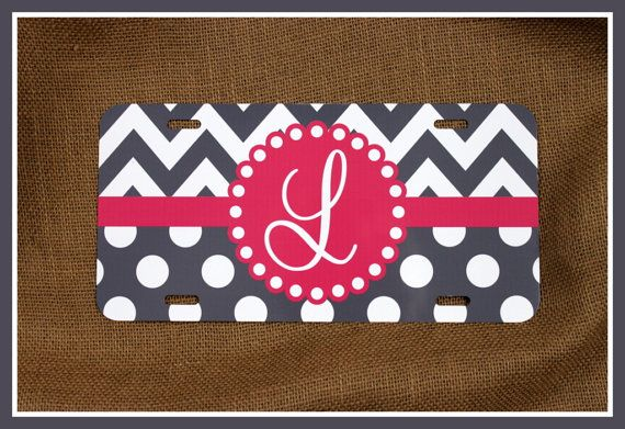 License Plate Car Tag Personalized Monogrammed Car by ChicMonogram, $25.00