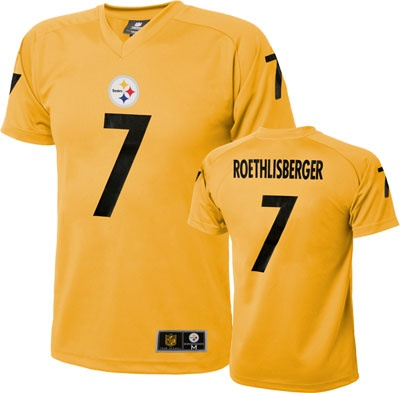 Ben Roethlisberger Youth Gold Alternate Pittsburgh Steelers Performance Jersey