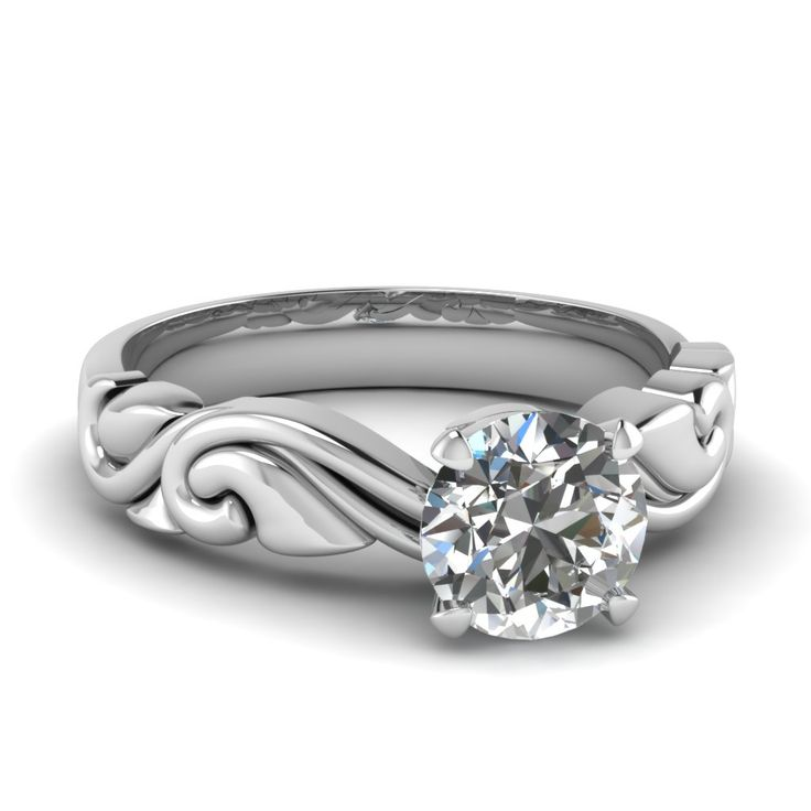 This cloud/water detailed design makes me want to float away to a place of serenity with this Filigree Elegance Ring.