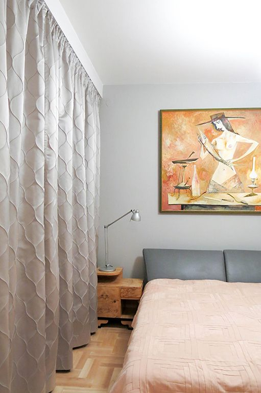 zasłony, firany, sypialnia, szaro-błękitne, łuski, 3D, przeszycia, połyskująca, satynowa, dekoracje okienne, dekoracje tekstylne, tkanina Margo