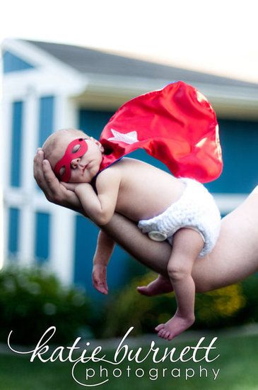 Newborn Superhero Mask and Cape