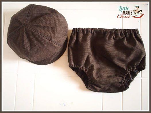 Boys vintage handmade newsboy hat and nappy cover #handmadeaustralia  #littlemanscloset
