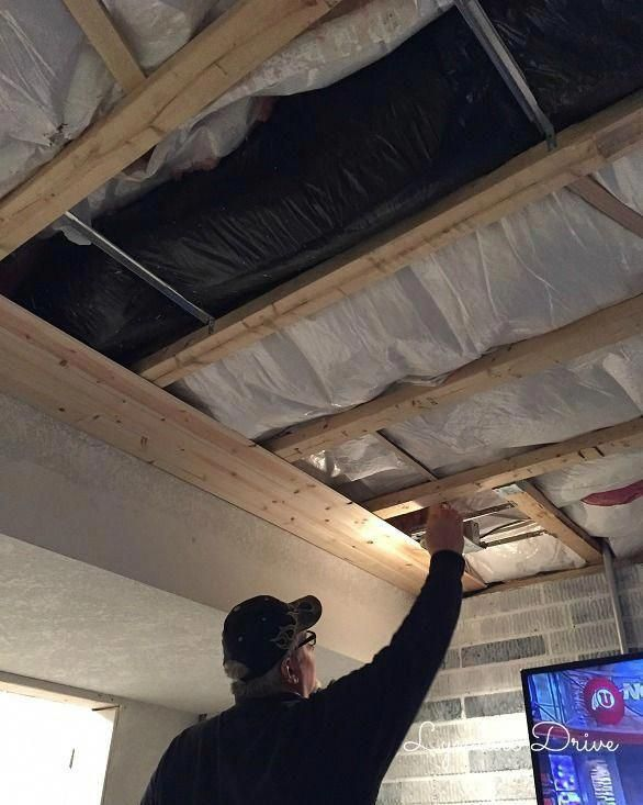 Do You Love Shiplap Are You Looking For A Simple Way To Finish Your Basement Ceiling With Out The Pa Low Ceiling Basement Basement Ceiling Basement Remodeling