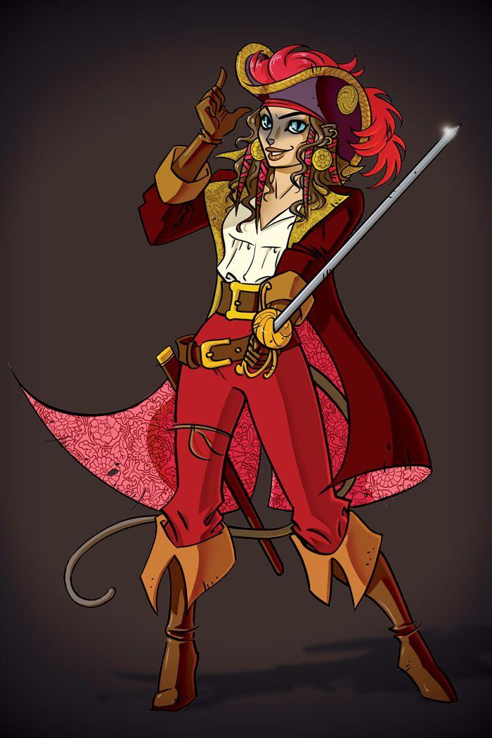 Female pirate drawing - photo#49