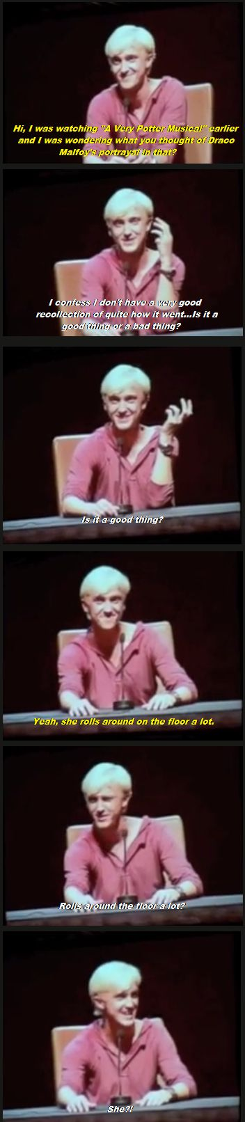 Tom Felton aka. Draco Malfoy on A very potter musical