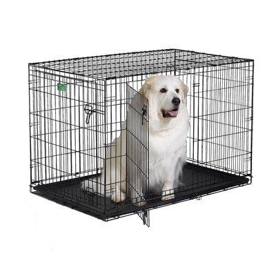 $88.95-$129.99 Midwest 1548DD iCrate 48-Inch L by 30-Inch W by 33-Inch H Double-Door Home Training and Travel Series - Midwest icrate double door-designed completely around the safety, security and comfort of you dog. The icrate double door dog crate sets up easily with the fold and carry configuration that requires no use of tools and can be completed by almost anyone. The dog crate comes to you ...
