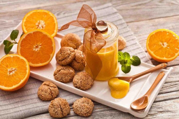 Orange curd z ciasteczkami. #ciasteczke #pomarańczowe #migdały #herbatka #herbata #smacznastrona #tesco #przepisy #przepis #tescoparty