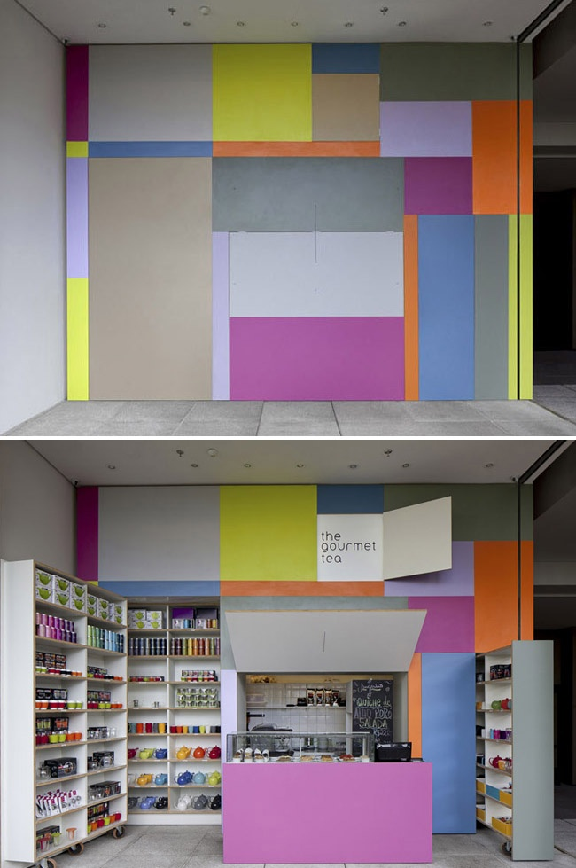 The Gourmet Tea pop out shop in a São Paulo, Brazil. By architect Alan Chu. #colorful #building #architecture