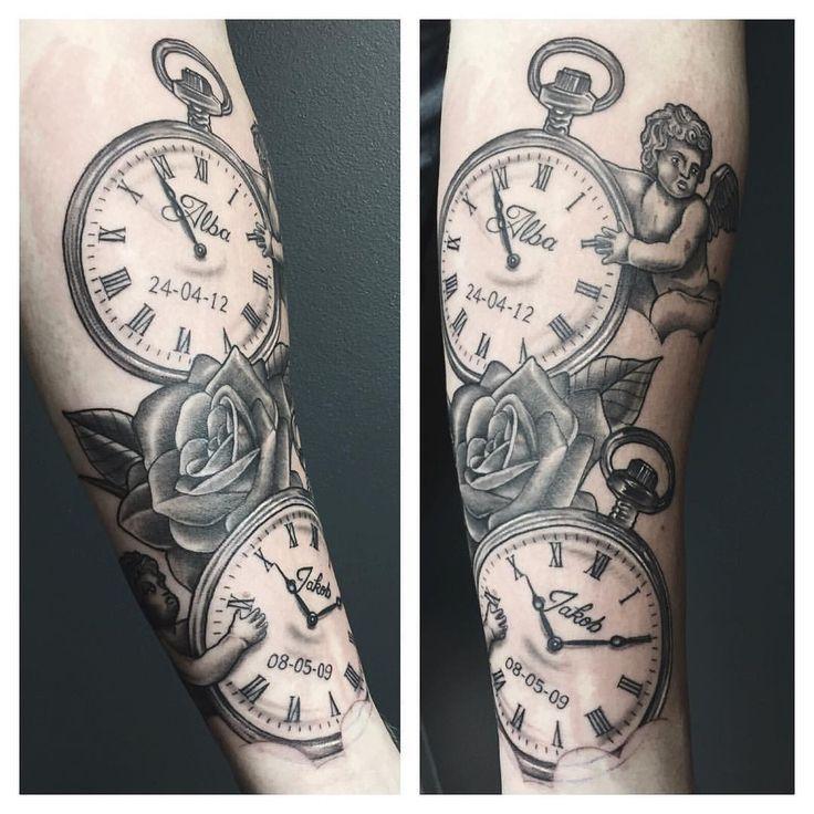 Clock Tattoo Clock Tattoo Ideas Pocket Watch Tattoos Watch Tattoos Tattoos For Kids