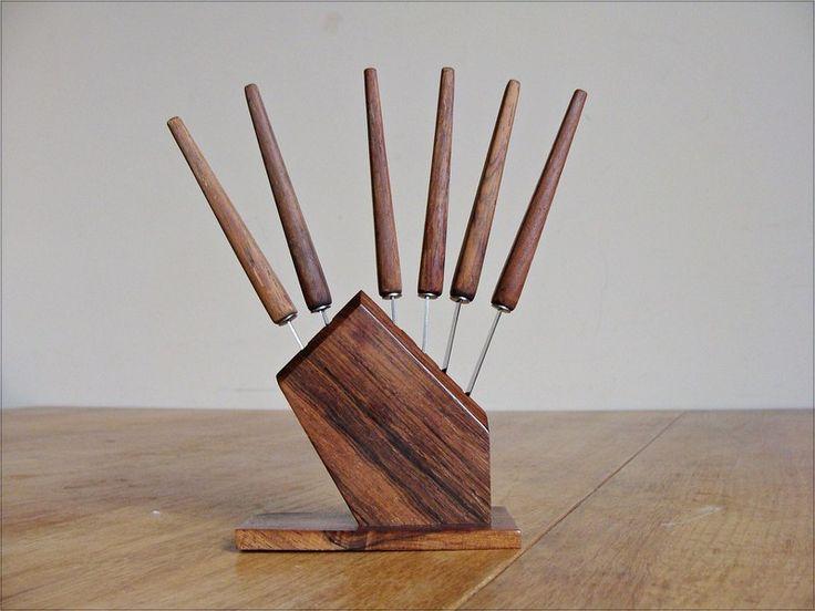 Vintage Messer Set Obstmesser Holz von Anbahner auf DaWanda.com