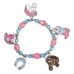 Includes 3/4 plastic beads and 1 enamel charms on a 6 1/2 circ. stretchy cord. (8 pcs. per unit) OTC