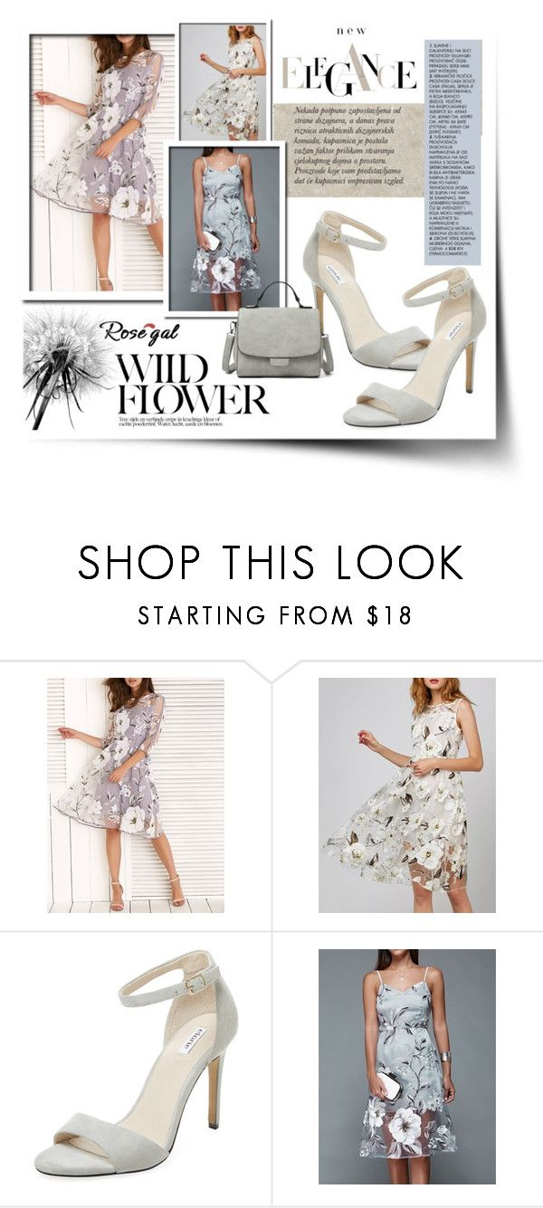 """""""Organza Elegant"""" by atikazahra on Polyvore featuring Elorie, Flowers, dress and rosegal"""
