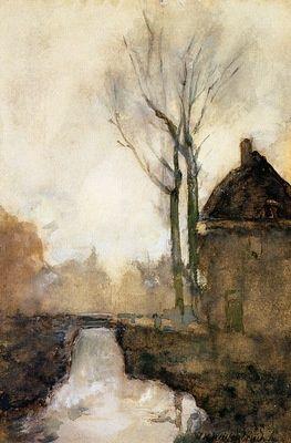Patricia Collins Harris • Jan Hendrik Weissenbruch (Dutch, 1824-1903).  Rose Briar