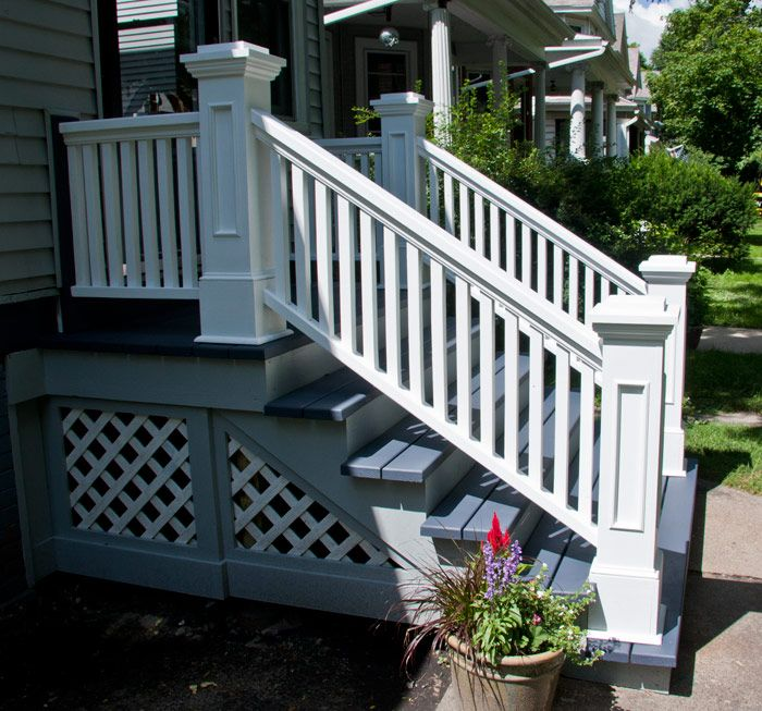 Best Front Steps Railings And Newel Posts « Edgewater Woodwork 400 x 300